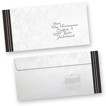 50 Sets Hochwertige Trauerkarten, Klappkarten inkl. Einlegeblätter bedruckbar und inkl. Briefumschläge -