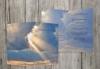 Trauerkarten-Druck   Trauerkarte Himmel   20 Karten Trauerkarte - inklusive Umschläge, personalisiert   in MitternachtsBlau -