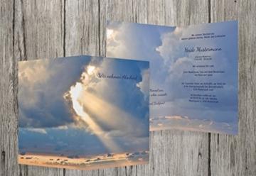 Trauerkarten-Druck | Trauerkarte Himmel | 20 Karten Trauerkarte - inklusive Umschläge, personalisiert | in MitternachtsBlau -